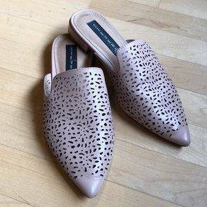 Steven by Steve Madden perforated leather mules